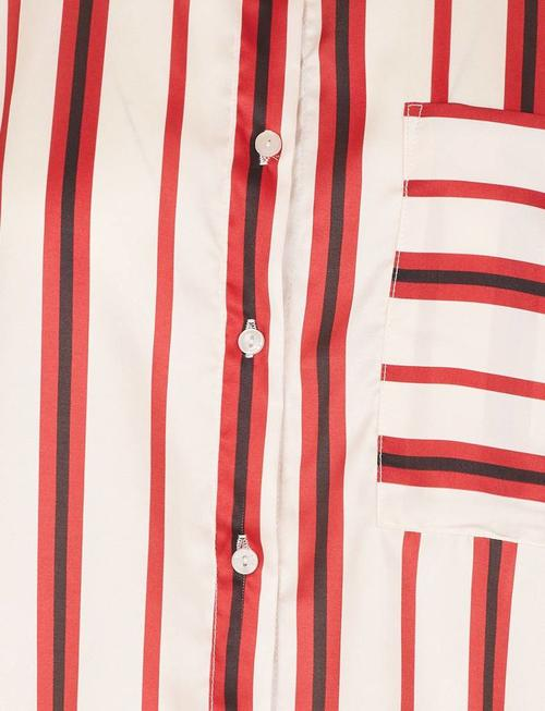 Grace & Mila Revolution Striped Blouse - Red