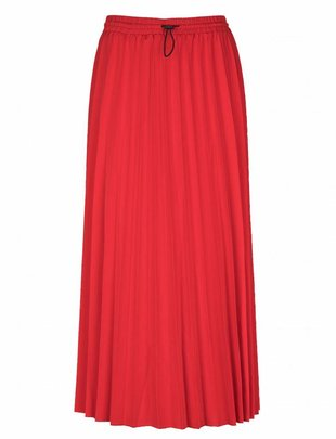 Grace & Mila Redoute Pleated Skirt Red