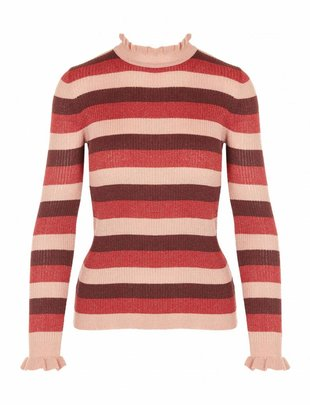 Grace & Mila Raiponce Striped Glittery Top Pink