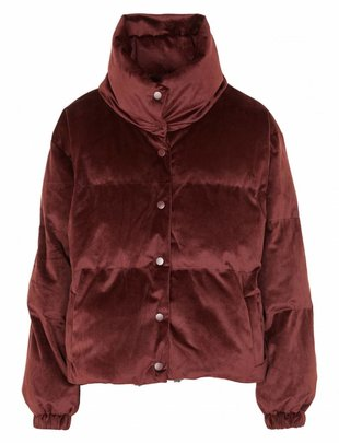 Grace & Mila Relax Velvet Bomber - Purple Copper