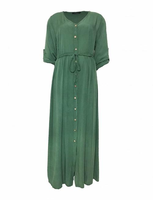Green Viscose Maxidress