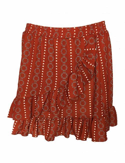 Fringe Ethnic Skirt Red