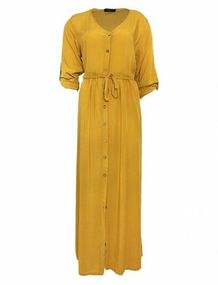 Yellow Viscose Maxidress