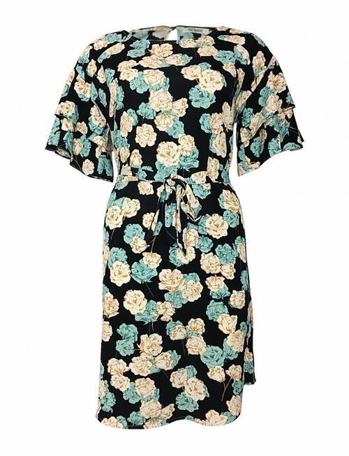 Black Minty Flower Dress