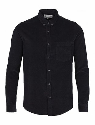 Just Junkies Thom Bedford Ribbed Blue Shirt
