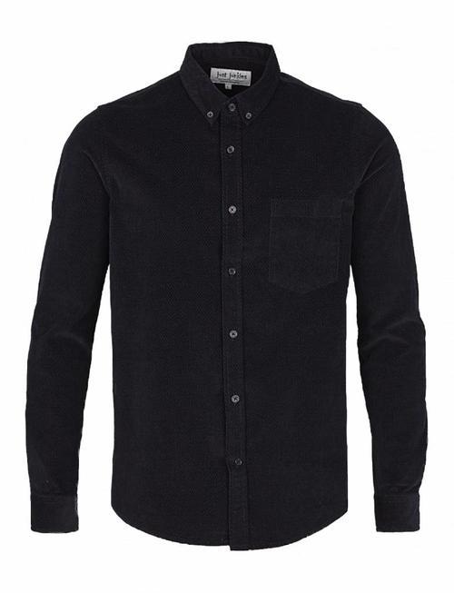 Just Junkies Thom Bedford Ribbed Blue Shirt