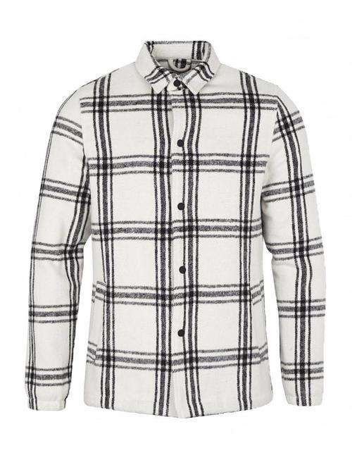 Just Junkies Mauritz Off-White Checked Coat