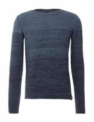 Indicode Leny Rough Knit - Navy Blue