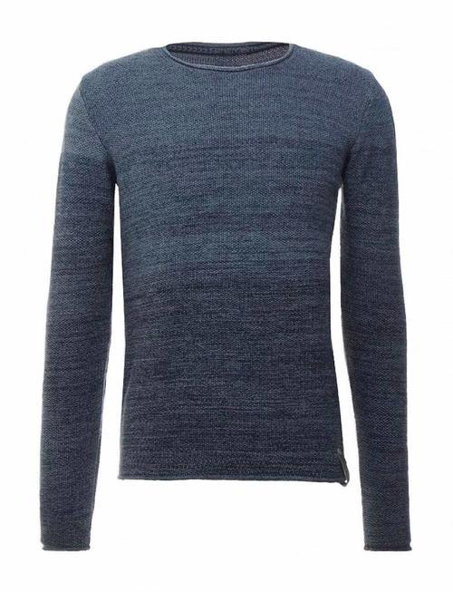 Indicode Leny Rough Knit - Navy Blue