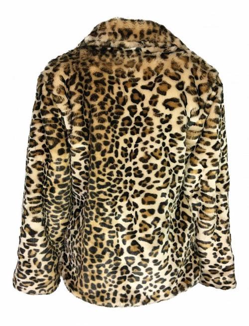 Lusty Leopard Fluff Coat