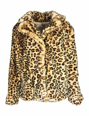Lusty Leopard Fluff Coat