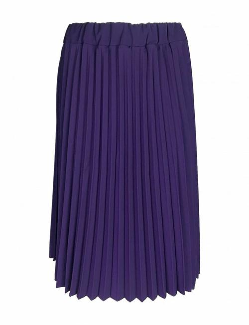 Royal Purple Pleated Skirt