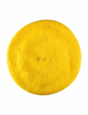 Wool Beret Yellow