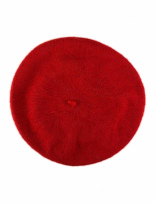Wool Beret Red