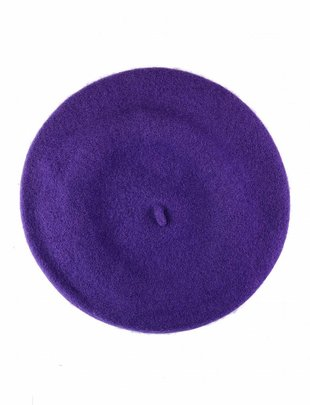 Wool Beret Aubergine