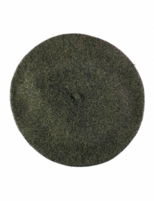 Wool Beret Dark Green