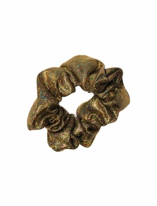 Scrunchie Holographic Glitter - Gold