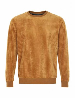 Anerkjendt Hans Ribbed Velvet Sweat - Bronze
