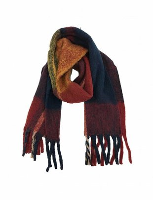 Anerkjendt Brit Navy & Red Plaid Scarf