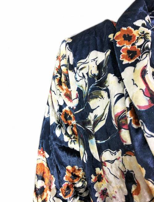 Elli White Midnight Flower Velvet Kimono