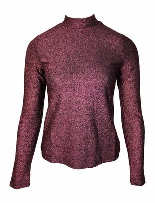 Ruby Glittery Lurex Top