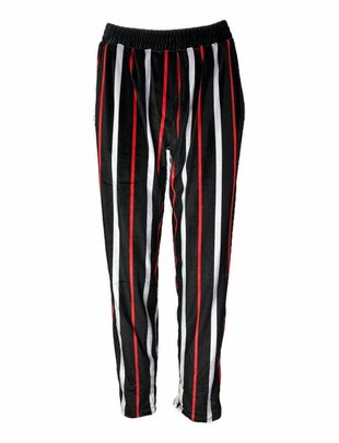 Black 'n Red Striped Pants