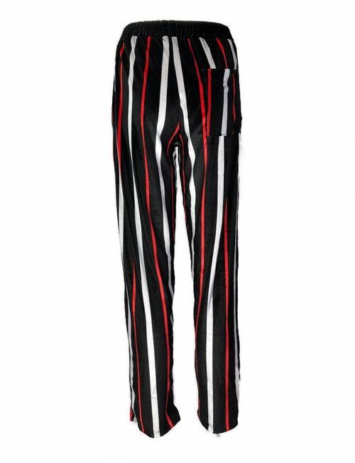 Black 'n Red Striped Pants