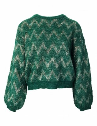 Chevron Twinkle Knit - Green