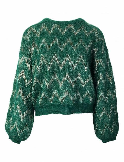 Chevron Twinkle Knit - Green