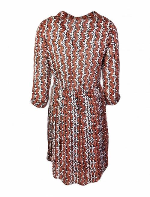 Orange Cider Floral Dress