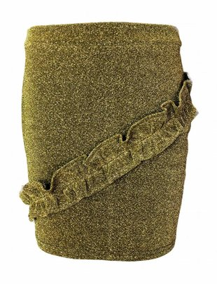 Glitter Ruffled Skirt Gold