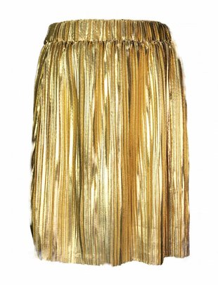 Pleated Sparkle Skirt - Gold