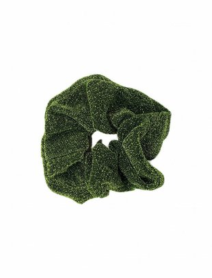 Scrunchie Glitter Green