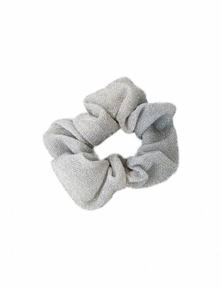 Scrunchie Glitter White