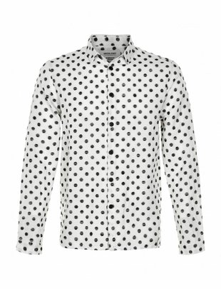 Anerkjendt Hector Spotted Sketch Shirt - White