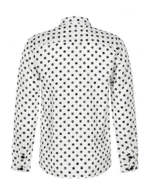 Anerkjendt Hector Spotted Sketch Shirt - White