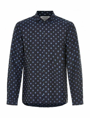 Anerkjendt Hector Spotted Sketch Shirt - Blue