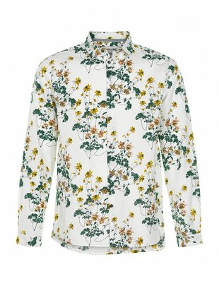 Anerkjendt Hector Pearly White Spring Flower Shirt