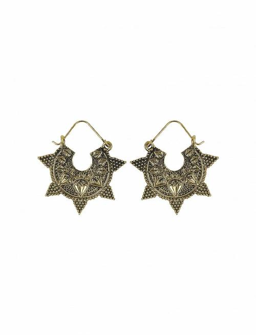 Indian Jhumka Star Earrings - Gold