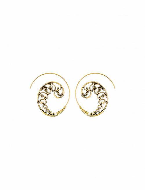 Spiral Earrings Crimps