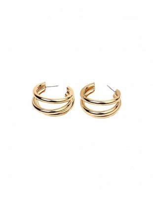 Triple Circular Tube Earrings
