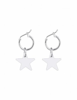 Little Star Earrings - Silver