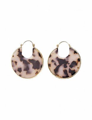 Resin Disc Earrings - Pink Turtle