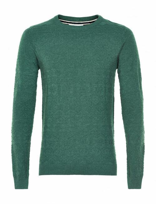 Anerkjendt Rico Grashopper Green Embroidered Knit