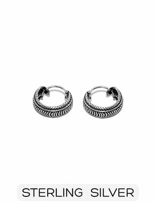 Sterling Silver - Small Boho Hoop Earring (p/p)