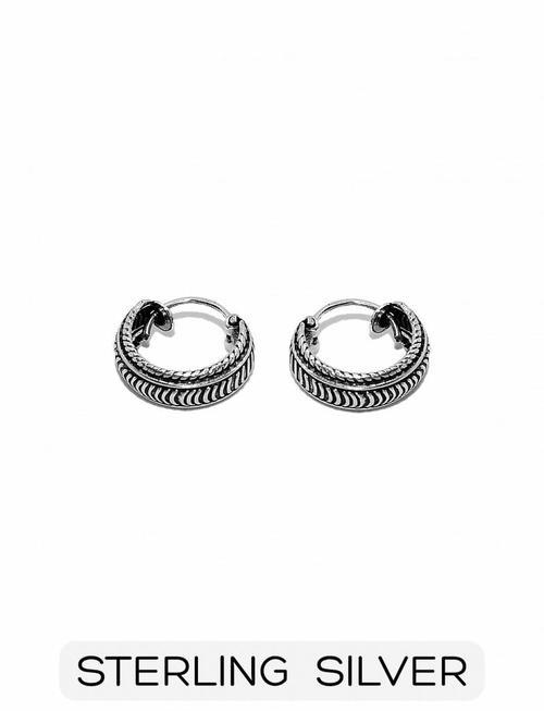 Sterling Silver - Small Boho Hoop Earring (p/p)