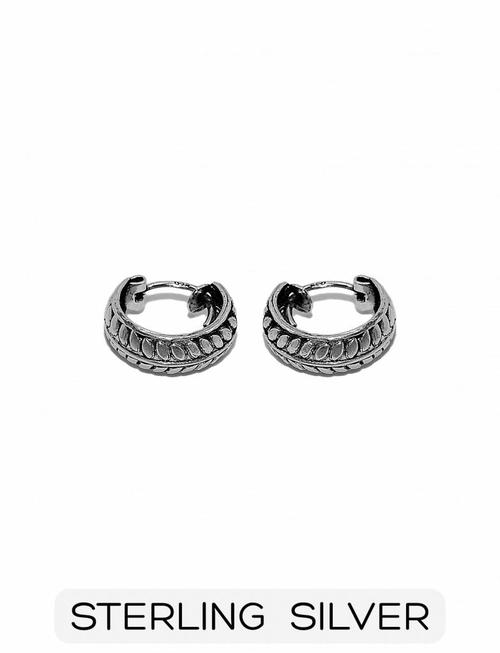 Sterling Silver - Small Laurel Leaf Earrings (p/p)