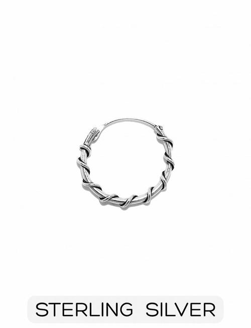 Sterling Silver - Wired Circle Earring (p/s)