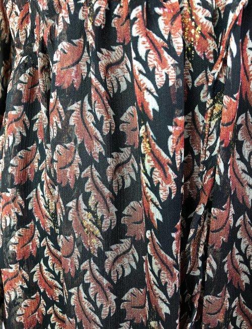 Caramel Leaf Layered Maxi Dress