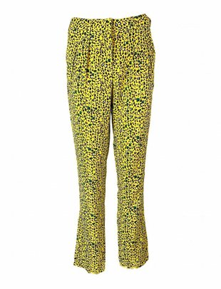 Rut&Circle Elsa Yellow Leopard Print Pants